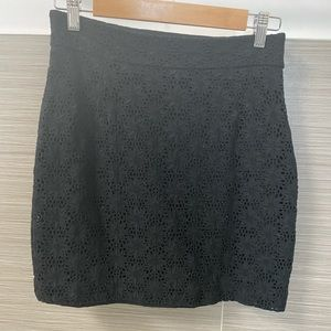 French Connection Floral Skirt in Black